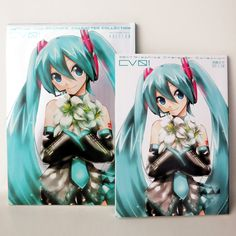 #HatsuneMiku books #UdonGiveaway!  Better yet it's the bigger metallic foil version of CV01.  Enter to WIN at:  http://fb.me/2vAilnaOP #vocaloid