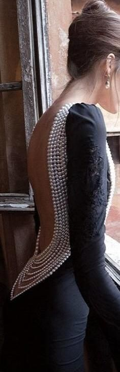 gorgeous pearl back dress
