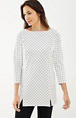 windowpane ponte knit tunic | J.Jill  Would be great for weekend causal