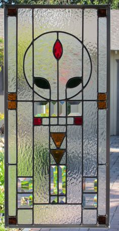 Arts+and+Crafts+Style+Stained+Glass+Window+by+DebsGlassArt+on+Etsy,+$170.00