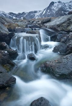 SNOWDONIA, WALES, WATERFALLS, NORTH WALES - ogwen valley waterfalls