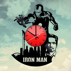 Iron Man Godkiller Handmade Vinyl Record Wall Clock Fan Gift - VINYL CLOCKS