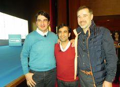 Con el alcalde de Ferrol, José Manuel Rey y el alcalde de Ames, Santiago Amor