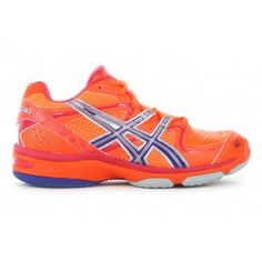 ASICS Womens Gel-Netburner 16 (D) Neon Orange/Navy/Lightning $150