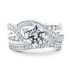 Mark Schneider Bedazzle .17cttw bead set contoured diamond wedding band