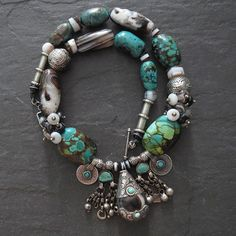 Turquoise and Agate Necklace