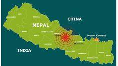 Waar de aardbeving in Nepal plaats heeft gevonden.