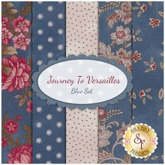 Journey To Versailles 5  FQ Set - Blue Set by Mary Jane Carey for Henry Glass Fabrics
