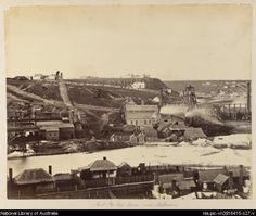 Port Phillip Mines, Clunes, Victoria, ca. 1880 [picture]. - Part of  Album of views of Western Australia, South Australia, Victoria and Tasmania, 1870-1890 [picture].