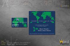 Camera di Commercio Italia-Australia - Tessera soci, biglietto d'auguri