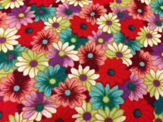 Japanese cotton  colourful floral fabric half by TheFabricHippie, $7.00