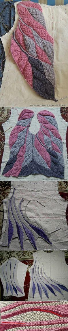 Интересный способ вязания спицами...пёрышки .. | ВЯЗАНИЕ | Постила