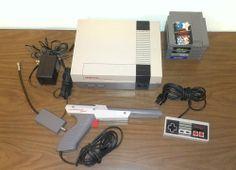 Nintendo Entertainment System Action Set Console - Gray for sale online Original Nintendo, Classic Toys, Console, Games, Ebay, The Originals, Gaming, Roman Consul, Plays