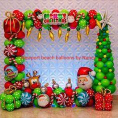Christmas Balloons, Merry Christmas, Holiday Decor, Home Decor, Xmas, Arches, Globes, Merry Little Christmas, Decoration Home