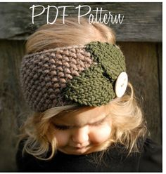 Knitting PATTERN-The Jordynn Warmer (Toddler, Child, Adult sizes) - Kapuzenschal Stricken Knitting Projects, Crochet Projects, Knitting Patterns, Crochet Patterns, Pdf Patterns, Diy Tricot Crochet, Crochet Gifts, Knitted Headband, Knitted Hats