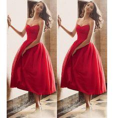 Red Short Prom Dresses pst0354 on Storenvy