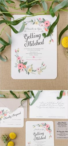 Getting hitched wedding stationery