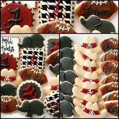 Alabama Football Cookies Not an Alabama fan but these are soo cute!