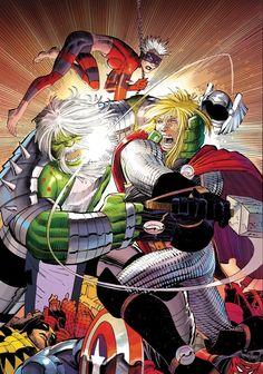 Thor vs. World War Hulk by John Romita Jr. *