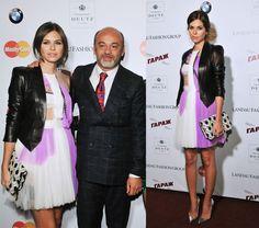 Dasha Zhukova and the most wonderful man in the world, Christian Louboutin!!!