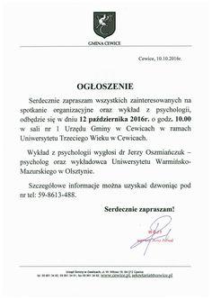 Gmina Cewice - wykład z psychologii