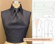Plantillas de moda para medirla ('Shingo Sato' Dart Manipulation into a Tie) from: http://moldesedicasmoda.blogspot.pt/2014/04/detalhes-de-modelacao-25.html