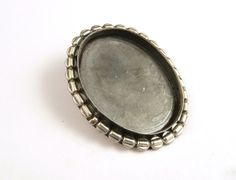 Vintage Sterling Silver Bolo Setting  // Oval by CastoGemstones, $21.00
