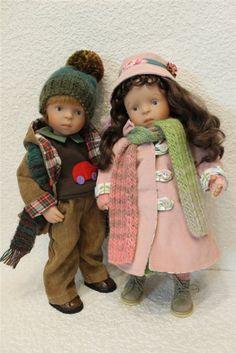 Красиво одеваться любят все! Мода для кукол Minouche от Sylvia Natterer, Kathe Kruse. Часть вторая. / Другие интересные игровые куклы для девочек / Бэйбики. Куклы фото. Одежда для кукол