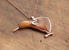 Christmas Sale 15% Kiwi bird cornelian pendant by Galvanart