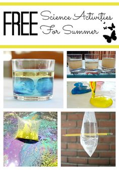 Free Science Activities for Kids to Do in Summer