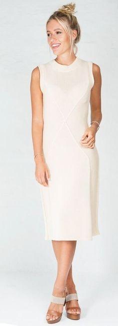 #summer #trending #style    Nude Midi Dress