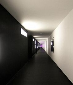 In the Limburg's country, the design hotel Carbon stands int the heart of the small town of Genk in Belgium. Hotel Hallway, Hotel Corridor, Architecture Design, Dark Carpet, Interior Decorating, Interior Design, Common Area, Ibiza, Monochrome
