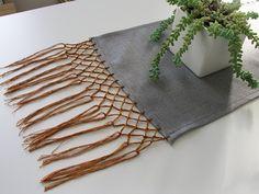 knotted fringe table runner