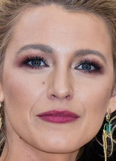 Close-up of Blake Lively at the 2018 Met Gala.