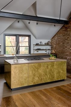 Gold Interior, Kitchen Interior, Kitchen Decor, Interior Design Inspiration, Home Interior Design, Interior Architecture, Küchen Design, House Design, Black Kitchen Island