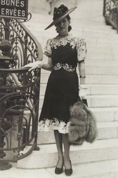 Gorgeous shot of 1940s France... We can picture Clementine in that dress!