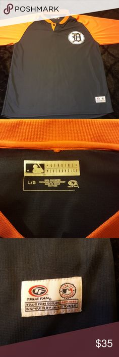 Tigers shirt Orange and blue baseball detriot tigers perfect condition  never worn detroit tigers Tops
