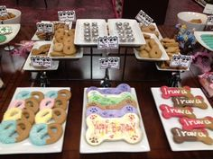 Come check out our deliciously decorated and yummy cookies at Woof Gang Bakery Dog Treat Recipes, Dog Food Recipes, Dog Bakery, Dog Biscuits, Yummy Cookies, Decorated Cookies, Dog Treats, Cookie Decorating, Goodies