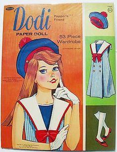 Pepper;s Friend DODI paper doll w/clothes & accessories-1966-pre-cut - http://dolls.goshoppins.com/paper-dolls/peppers-friend-dodi-paper-doll-wclothes-accessories-1966-pre-cut/