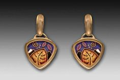 Cloisonné Enamel Earrings by Frances Kit