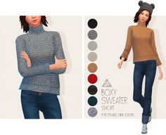 Boxy Sweater (Short) for AF at Tamo • Sims 4 Updates