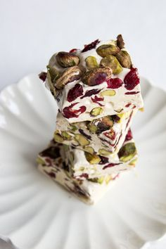 cranberry pistachio nougat