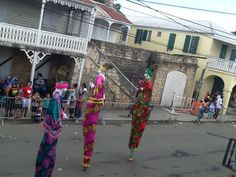 The Moko Jumbies in the 2014 Adult Crucian Christmas Carnival!
