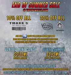Vapor Joes - Daily Vaping Deals: FLASH: TMAXX NO FRILLS MLS SALE - $5.40 PER 30ML!