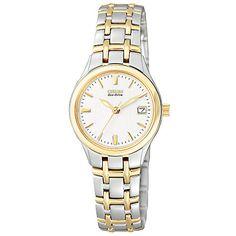Buy Citizen EW1264-50A Women's Eco-Drive Two Tone Bracelet Strap Watch, Gold/Silver Online at johnlewis.com