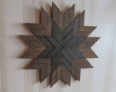Reclaimed Wood Wall Art- Barn Quilt- Farmhouse Decor- Wood Wall Decor- Rustic Wall Decor- Home Decor- Geometric Wall Art- Sunburst Wood Art