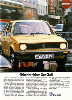 Golf Tips Seniors Key: 8869366866 Golf 1, Disc Golf, Vw Commercial, Volkswagen Golf Mk1, Kdf Wagen, Magazine Ads, Golf Magazine, Audi, Portrait