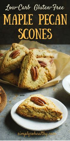 These Low-Carb Maple Pecan Scones make a delicious breakfast pastry or snack anytime of the day. This delicious recipe can be part of low-carb, ketogenic, Atkins, gluten-free, grain-free, diabetic, lc/hf, or Banting diet.