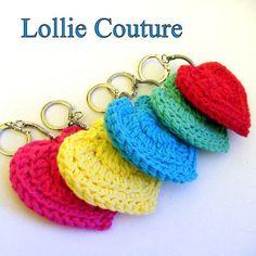 Candy Heart Crochet Keychain