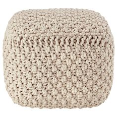 Atelier - Modern Cottage - Knitted ottoman